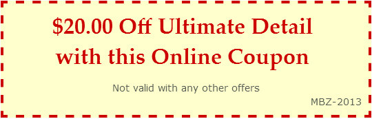 $20.00 Off Ultimate Detail with this Online Coupon